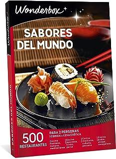 WONDERBOX Caja Regalo -SABORES del Mundo- 500 restaurantes para Dos Personas