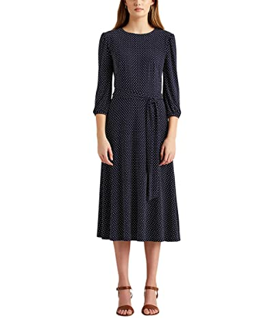 LAUREN Ralph Lauren Polka Dot Balloon Sleeve Dress Women