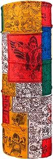 Autofy Unisex Printed Lycra Headwrap Bandana for Bikes (Yellow and Red, Freesize)