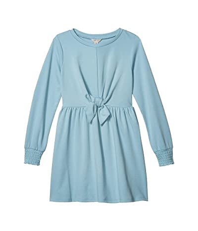 HABITUAL girl Sage B.F. Terry Tie Front Dress (Big Kids) (Light Blue) Girl