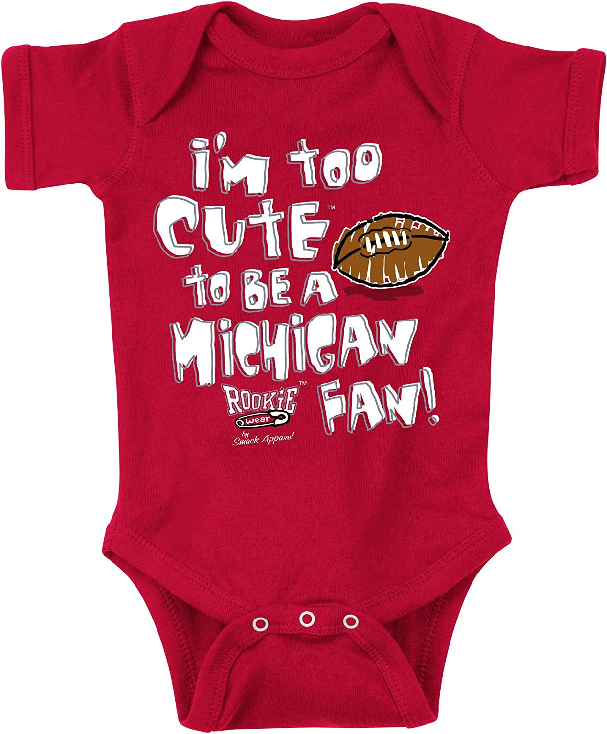 Smack Apparel Chicago Baseball Fans Too Cute Royal Onesie or Toddler Tee Anti-Cards NB-4T