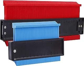 Medidor de Contornos, Duplicador de Contornos, Contour Duplicator para Azulejos Laminados Edge Shaping Madera y Medir Forma Irregular Medida, 2 Piezas Ensanchado 25cm y 15cm