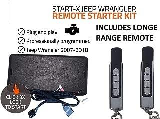 Start-X Long Range Remote Start Starter Kit for Jeep Wrangler Key Start 2007-2018    Plug & Play    3X Lock to Remote Start + Long Range Remote    10 Minute Install