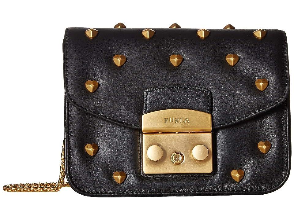 4ba13a15837d Furla Metropolis Amoris Mini Crossbody (Onyx) Cross Body Handbags
