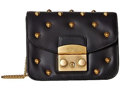 Furla Metropolis Amoris Mini Crossbody (Onyx) Cross Body Handbags