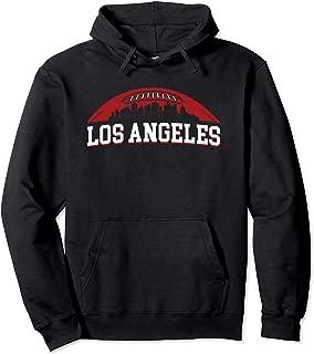 Los Angeles Skyline California Cityscape Football Sports Fan Pullover Hoodie