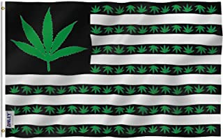 ANLEY [Fly Breeze] 3x5 Foot Marijuana Leaf USA Polyester Flag - Vivid Color and UV Fade Resistant - Canvas Header and Doub...