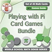 Playing with Pi Card Games Bundle: 4 Sets of 40 Cards with Games Guide 7G22