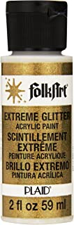 FolkArt Extreme Glitter Acrylic Paint in Assorted Colors (2 oz), 2786, Gold