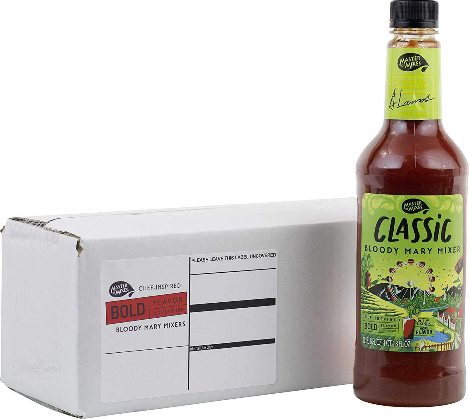 Amazon Com Master Of Mixes Classic Bloody Mary Drink Mix Ready To Use 1 Liter Bottle 33 8 Fl Oz Individually Boxed Grocery Gourmet Food
