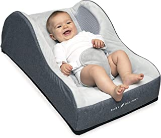 Baby Delight Comfort Nook Plush Infant Lounger | Grey | Comfortable and Safer Place for Your Baby to Nap and Lounge | Breathable Side Walls | Portable | Cover is Machine Washable