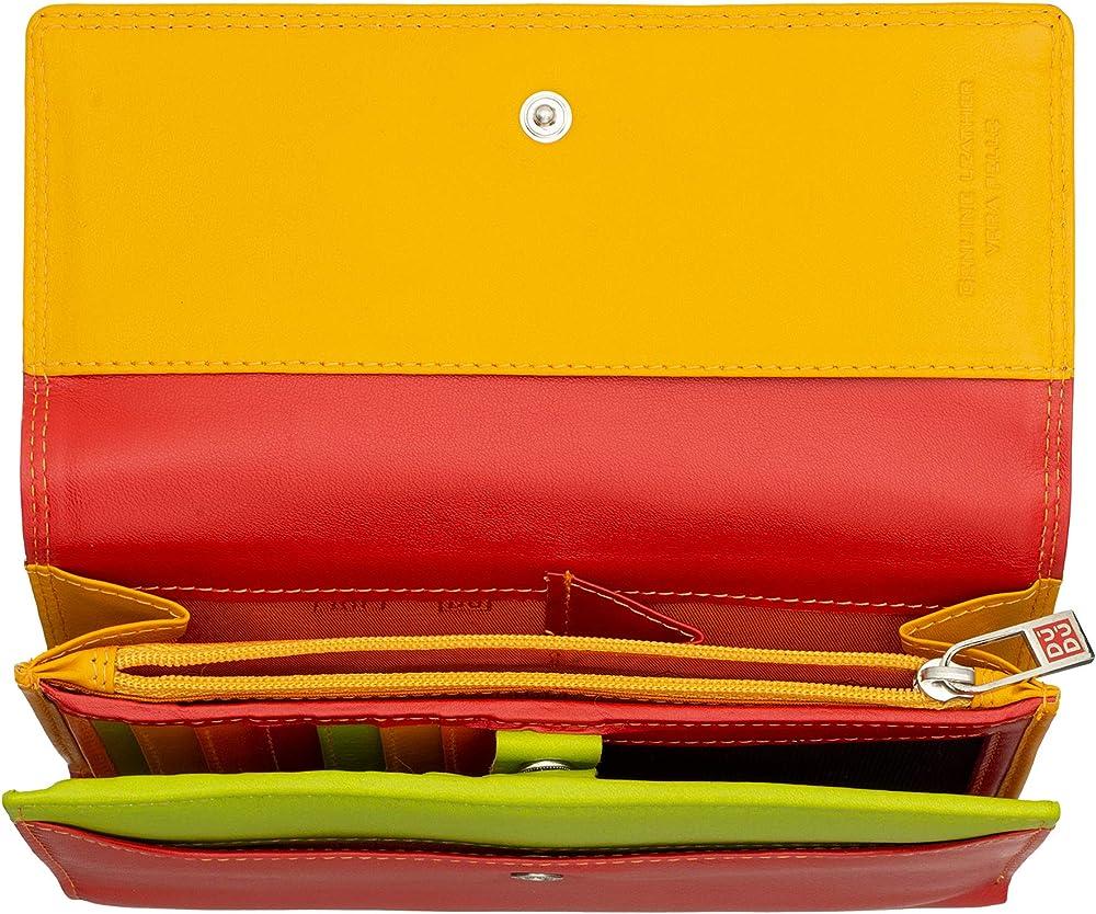 Dudu portafoglio da donna porta carte di credito con protezione rfid in vera pelle colorata 8031847141016
