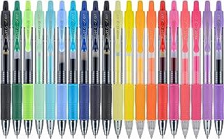 Pilot G2 Premium Gel Ink Pens, Fine Point, Assorted Colors, 20 Count (16696)