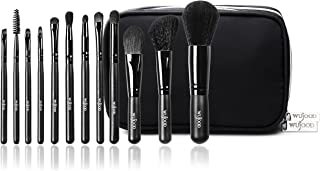 Wujood 12 Piece Professional Makeup Brushes Set – Hypoallergenic Synthetic Soft Brushes