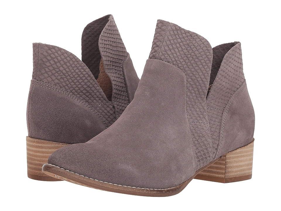 Seychelles Score Bootie (Charcoal Suede) Women's Zip Boots
