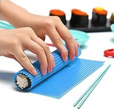 Kitchen Sushi Rolling Mat Non Stick Sushi Making Kit Japanese Plastic Sushi Rolling Maker Homemade DIY Sushi Plate Mat Lar...