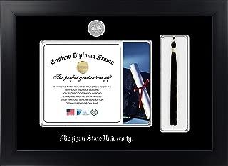 Celebration Frames Michigan State University 8½ x 11 Matte Black Finish Infinity Diploma with Tassel Box Frame