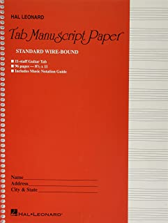 Guitar Tablature Manuscript Paper - Wire-Bound: Manuscript Paper