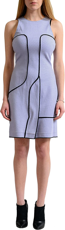 Versace Multi-Color Polka Dot Sleeveless Women's Sheath Dress US XS IT 38