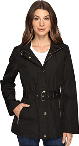 Belted Snap Front Jacket M322119R74