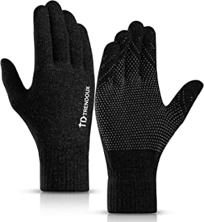 TRENDOUX 360° Touch Screen Gloves for Men and Women with Anti-Slip Silicone Gel, Elastic Cuff, Thermal Soft Lining
