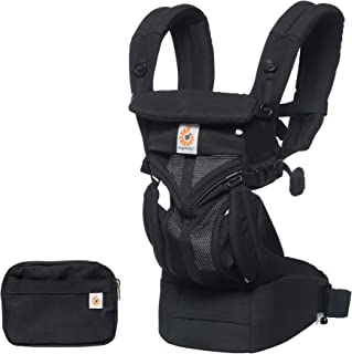 Ergobaby Cool Air Mesh Baby Carrier (Omni 360), Onyx Black