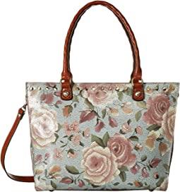 Crackled Rose Zancona Tote