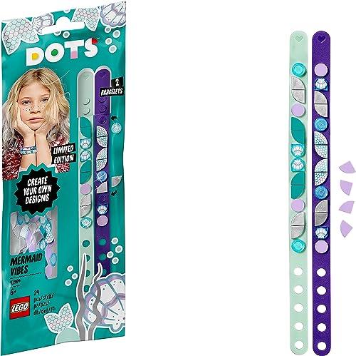 LEGO Dots 41909 LesBraceletsSirènes, Kit Création Bijoux DIY, Loisirs Créatifs et Bricolage pour Enfant de 6 Ans et...