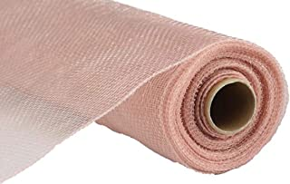 10 inch x 30 feet Deco Poly Mesh Ribbon (New Rose Gold)