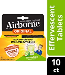 Airborne Immune Support Effervescent Tablets-1000mg Vitamin C With Echinacea, Ginger, Amino Acid Ble