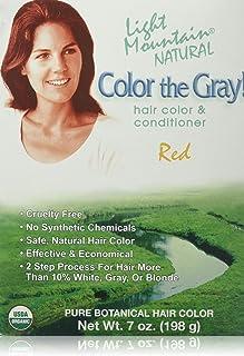 Best LIGHT MOUNTAIN Organic Henna Grey Red, 7 OZ Review