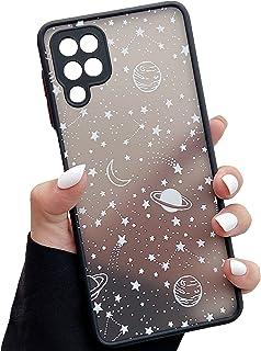 ZTOFERA Kompatibel mit Samsung Galaxy A12 Hülle, 6,5 Zoll, Planet Stern Universum Muster Schutzhülle Matt Harte PC Rücksei...