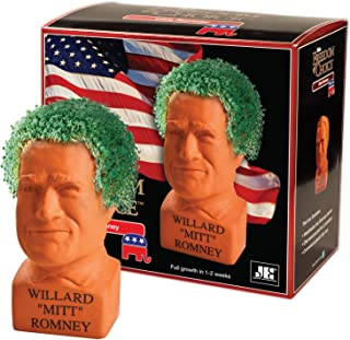 Chia Pet Mitt Romney, Decorative Pottery Planter, Freedom of Choice, Easy To Do and Fun To Grow, Novelty Gift, Perfect For Any Occasion