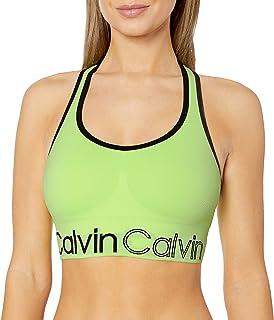 CALVIN KLEIN Performance Women's Medium Impact Racerback Seamless Sports Bra