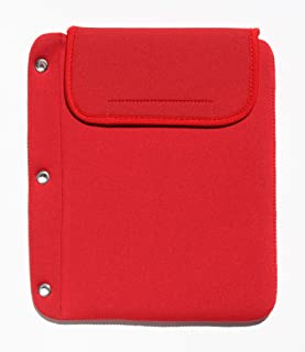 Tablet Cubbie Protective Patented 3-Ring Binder Neoprene Sleeve Case for iPad, e-Reader, Kindle, Tablets [iPad Air, iPad Mini, iPad Pro 9.7] Fits Over 40 Devices (Red1)