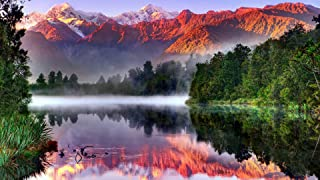 Puzzles for Adults 1000 Pieces DIY New Zealand South Island National Park Picture On for Home Decor Lovely Gift