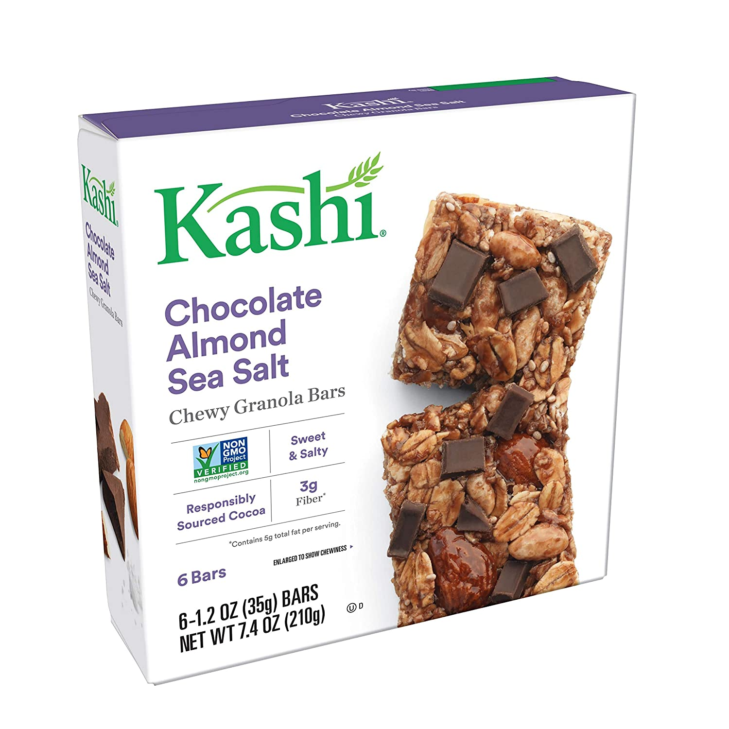 Kashi Chewy Granola Bars Chocolate Almond Salt Sea with Animer trend rank and price revision Chi