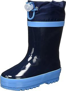 Playshoes Bota de Agua con Forro Classic, Botas de Goma de Caucho Natural Unisex niños