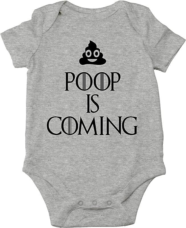 Poop Is Coming Funny TV Series Parody Cute Infant One Piece Baby Bodysuit