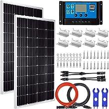 Pikasola 200 Watt 12/24V Solar Panel Kit for RV Boat Home: 2pcs 100W Monocrystalline Solar Panel Grade A + 12/24V Solar Ch...