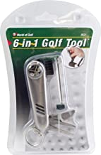 Jef World of Golf Gifts and Gallery, Inc. 6 In 1 Golf Tool (Silver)