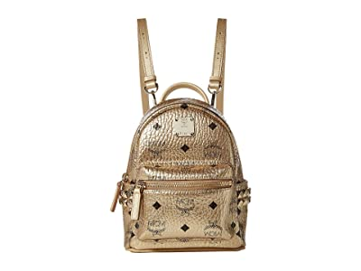 MCM Stark Backpack Xmini (New Champagne Gold) Backpack Bags