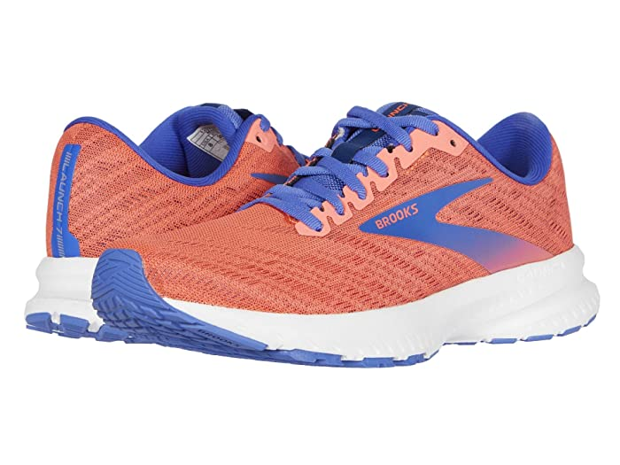 Brooks  Launch 7 (Coral/Claret/Blue) Womens Running Shoes