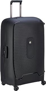 Delsey Paris Moncey Valise 82 cm Trolley 4 Double Wheels Suitcase (Hardside), Black (00384483000)