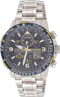 سيتيزن ساعة رياضية للرجال انالوج-رقمي ستانلس ستيل - JY8078-52L