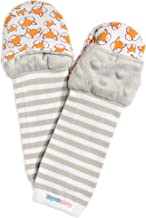 Handsocks Plushy Stay On Strap-Free No-Scratch & Warmth Mittens (Medium (6-12 Months. Bicep Size Should be Bicep 5.0