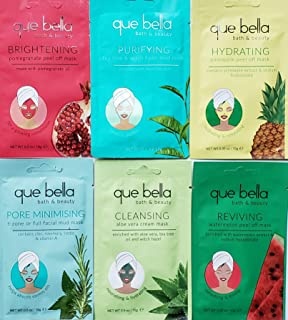 Que Bella Face Mask Pamper Me Gift Set Including 6 Popular Que Bella Face Masks in a Gift Bag