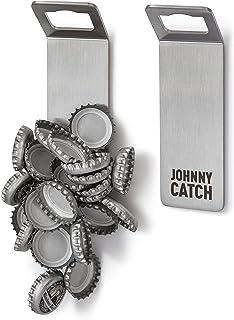 höfats - Johnny Catch Magnet - Wand-Flaschenöffner mit Magnet - fängt bis 20 Kronkorken - Bieröffner und Flaschenöffner