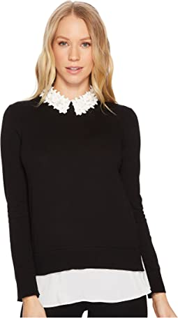 Ted Baker - Nansea Floral Collar Mockable Jumper
