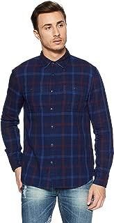 Celio Men's Checkered Regular Fit Cotton Casual Shirt